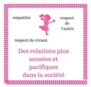 Cultiver les relation sensées et pacifique dans la société auprès des enfants
